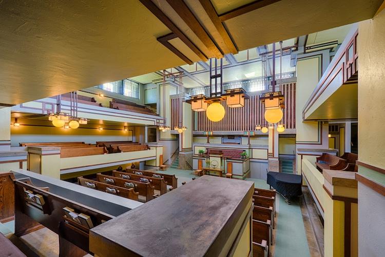 Unity Temple Frank Lloyd Wright Prairie Style