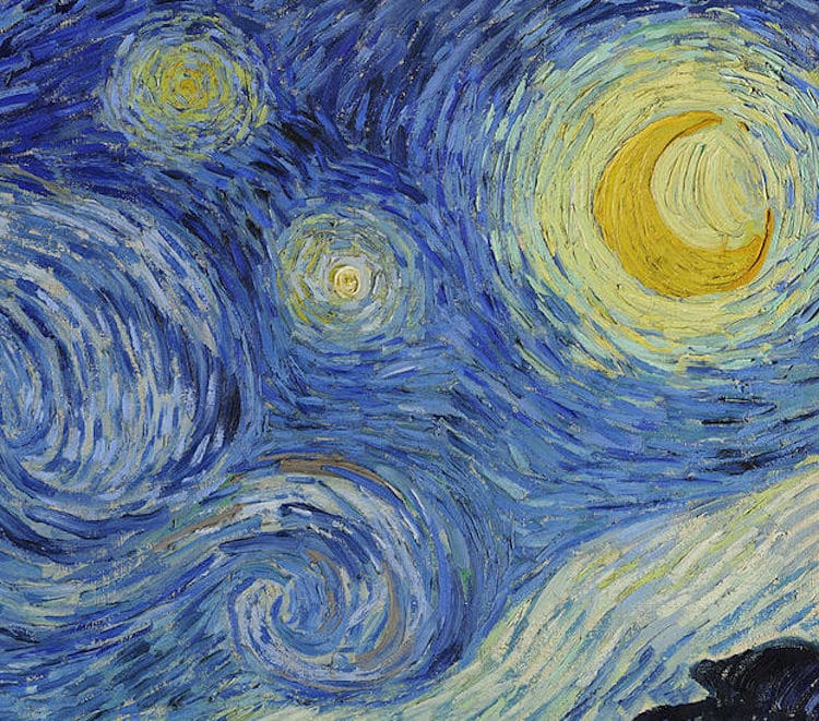 Van Gogh Starry Night Art Post-Impressionism Famous Paintings Details