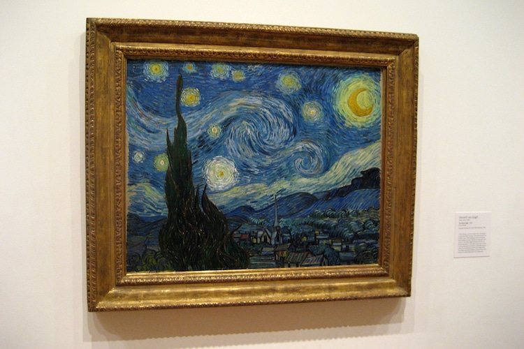 Van Gogh Starry Night Art Post-Impressionism Famous Paintings Self-Portrait