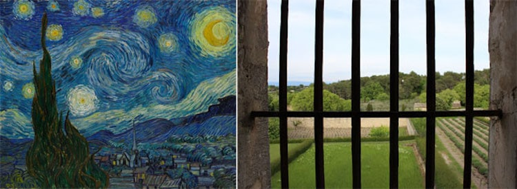 Van Gogh Starry Night Art Post-Impressionism Famous Paintings Asylum