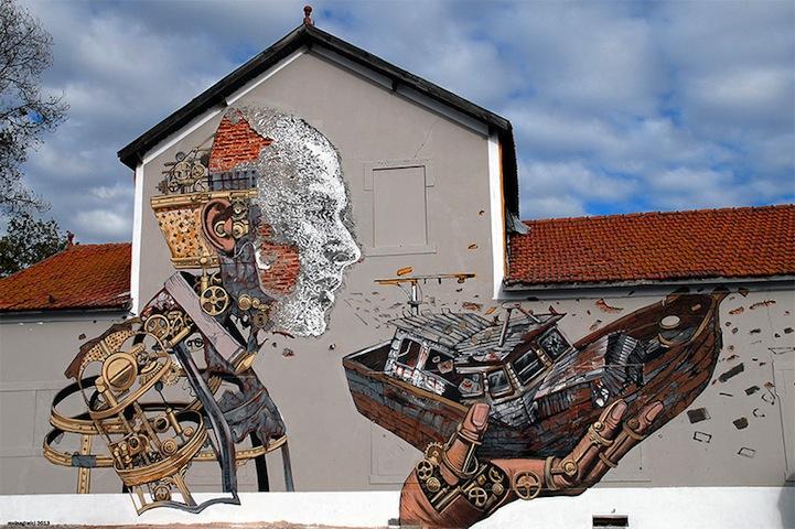 vhils pixel pancho street art