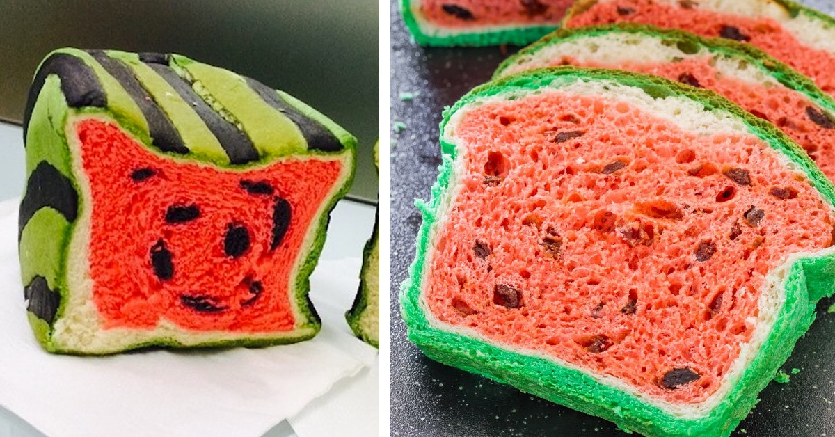 Watermelon Bread Has Bakers Turning Loaves Of Bread Into Tasty Fruit
