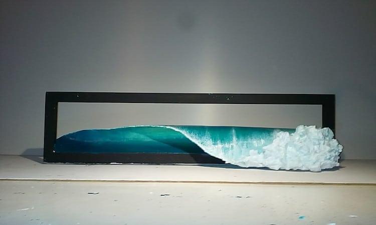 Brand new Driftwood Sculpture Series of Wave Art by Johny Surf Art YN79
