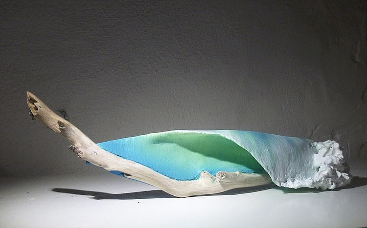 Wave Art Driftwood Sculpture Ocean Waves Johny Surf Art