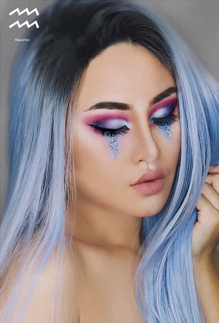 Aquarius Zodiac Makeup by Kimberly Money
