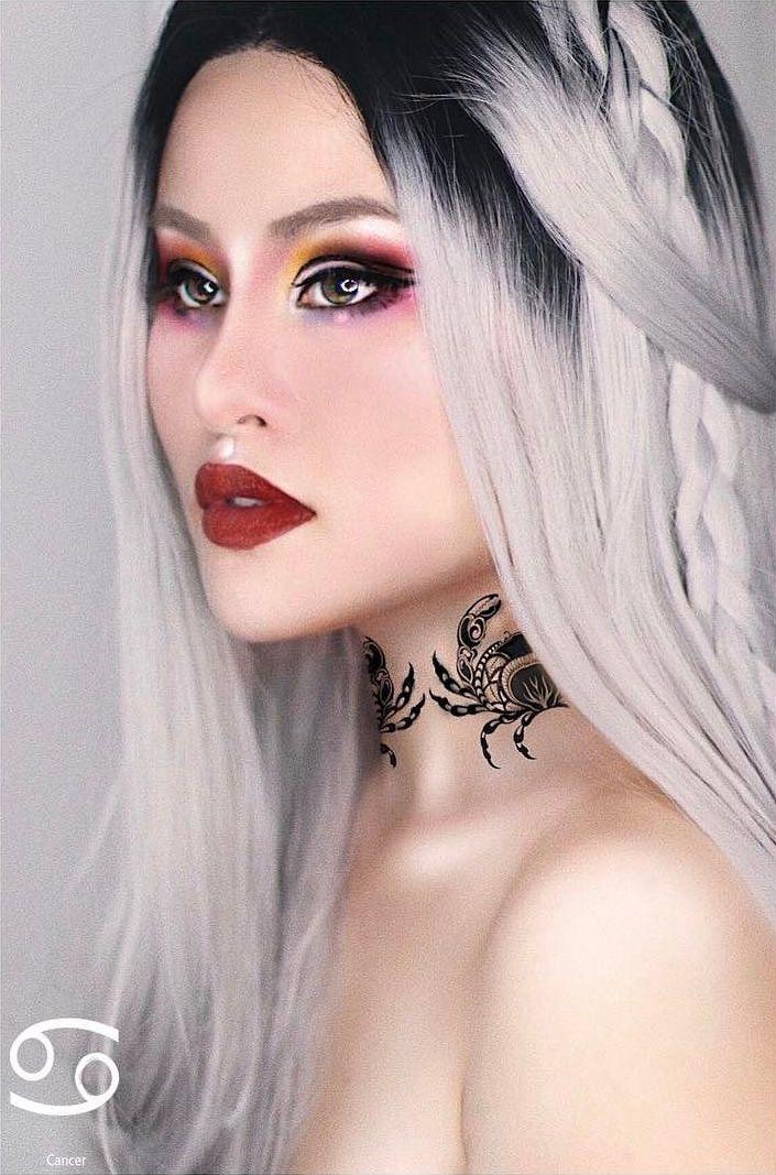 Cancer Zodiac Makeup by Kimberly Money