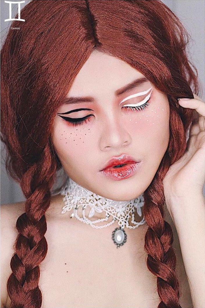 Gemini Zodiac Makeup by Kimberly Money