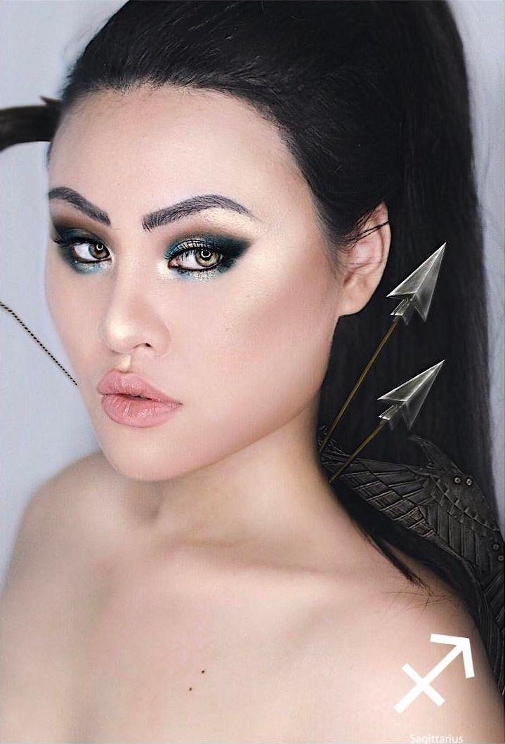 Sagittarius Zodiac Makeup by Kimberly Money