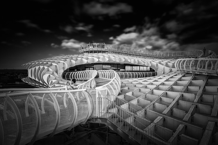 alessio forlano black and white architecture photography