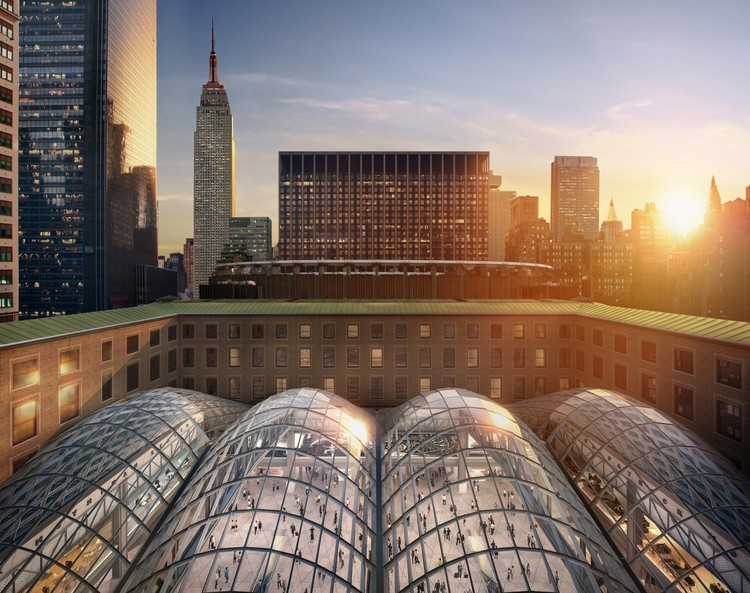 Penn Station Farley Post Office Building Renderings