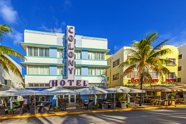 Colony Hotel, Miami Beach, Art Deco Architecture