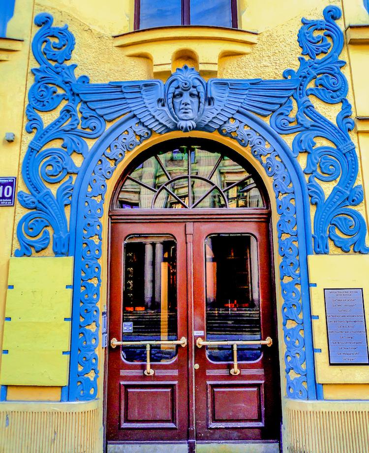 cat house latvia art nouveau architecture