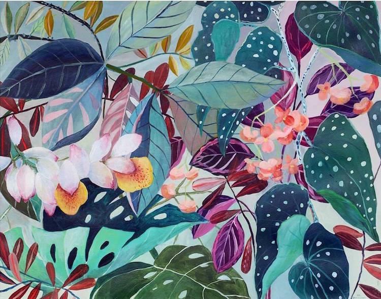 Botanical Illustration House Plants Paintings Laura Garcia Serventi