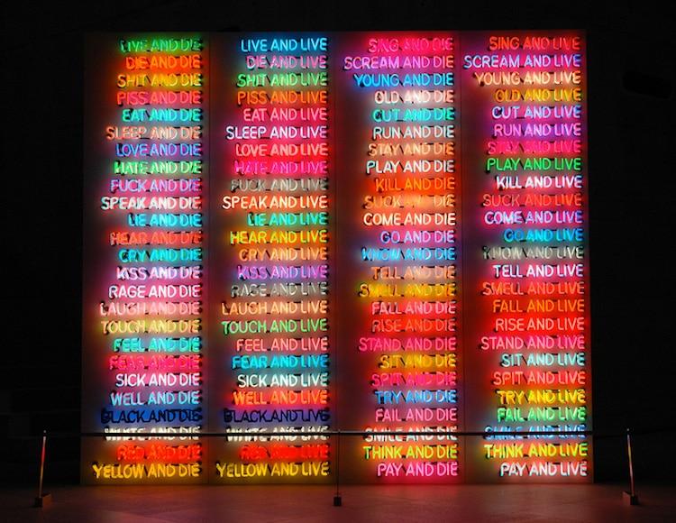bruce nauman neon sculpture