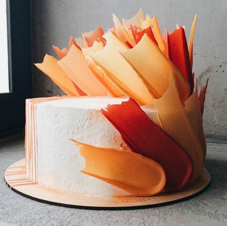 Brushstoke Cakes Paint Splatter Cake Decorating Kalabasa