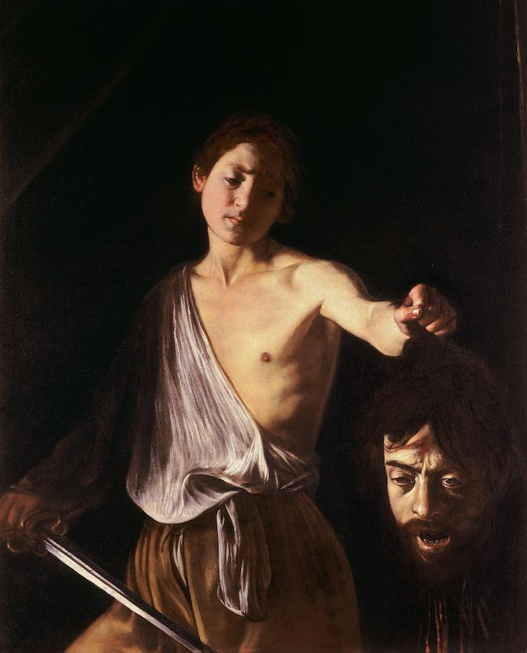 Caravaggio Painting of David
