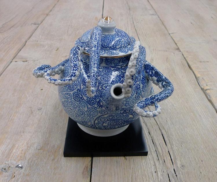 Ceramic Octopus Vase Ceramic Vessels Keiko Masumoto