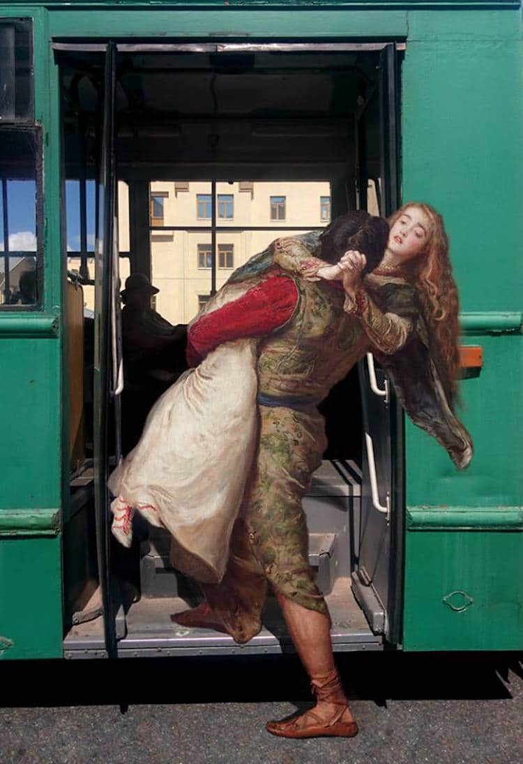 Classical Paintings Photo Manipulation Digital Art Alexey Kondakov