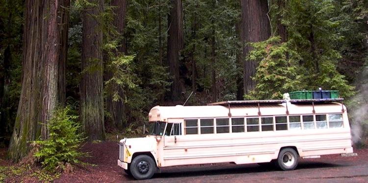autobuses transformados en casas