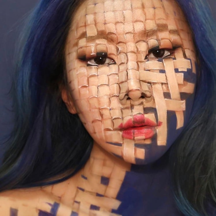 Dain Yoon Creates Mind Bending Body Art With Optical Illusion Makeup