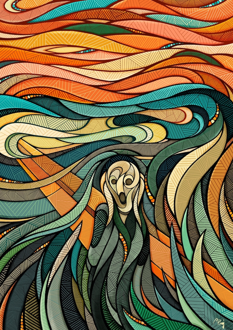 The Scream Painting Gets Modernized by Contemporary Artists