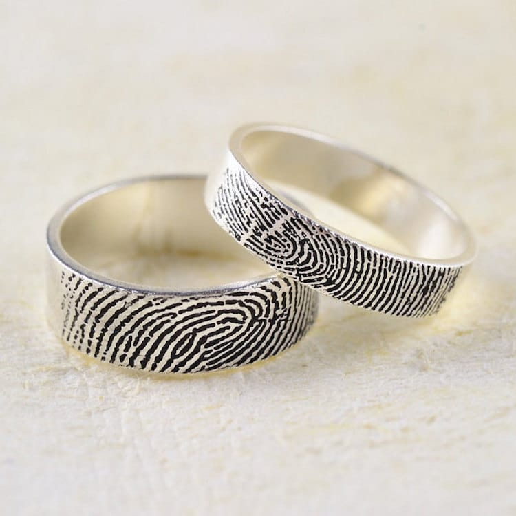 Fingerprint Ring Trend Puts Personal Spin on Traditional Wedding Bands