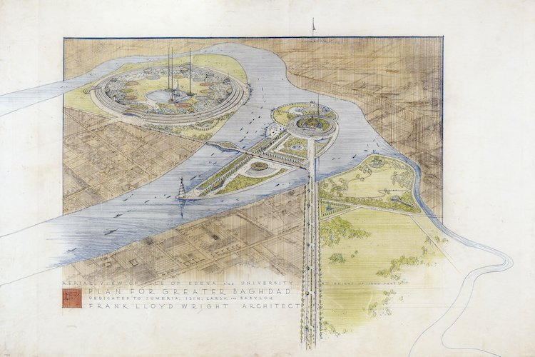 Frank Lloyd Wright drawing