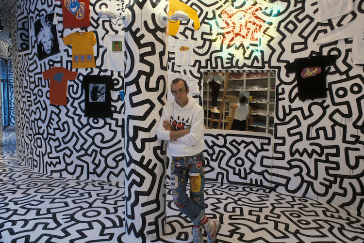 keith haring pop shop graffiti art