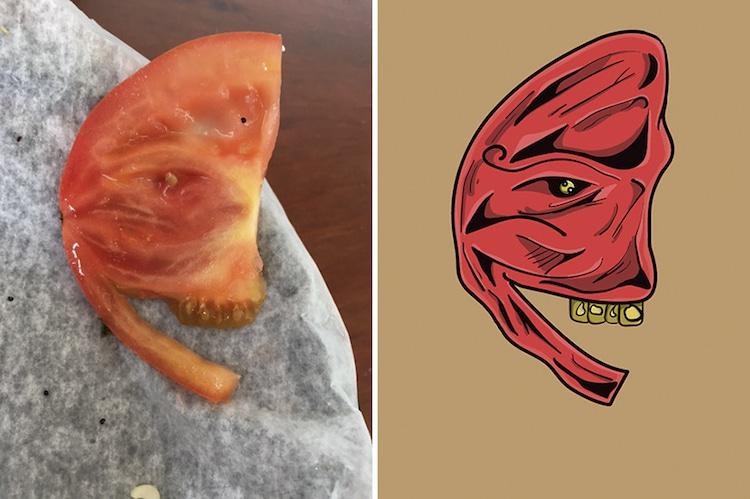Illustrations de visages dans des objets inanimés par Keith Larsen