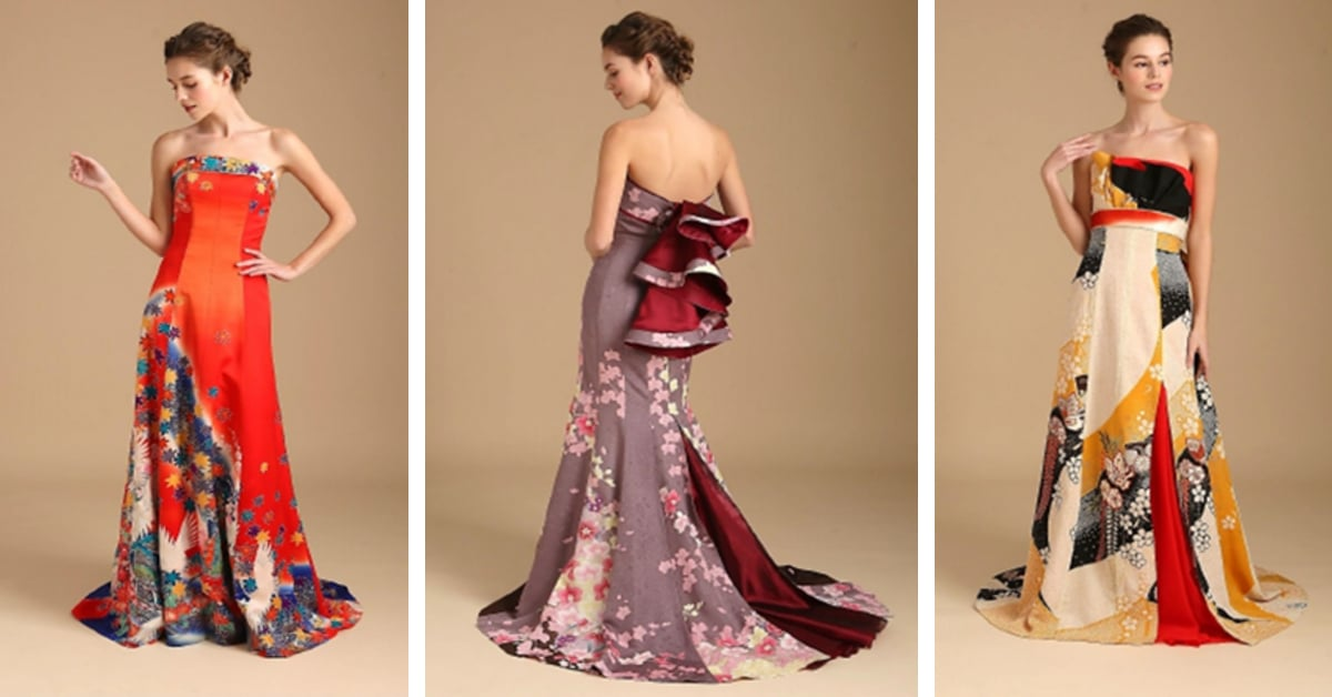 Kimono Wedding Dress Line Features Gowns Made From Antique