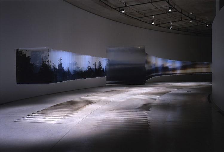 Layer Drawings Nobuhiro Nakanishi Installation Art Photos on Glass