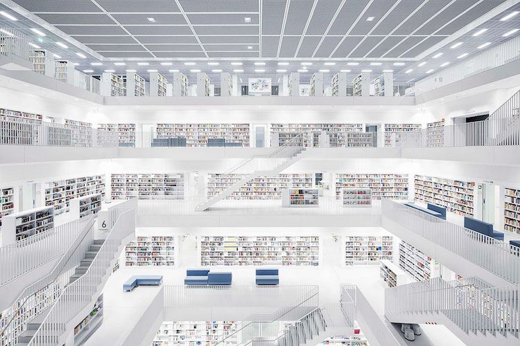 Library Photos Interior Architecture Thibaud Poirer