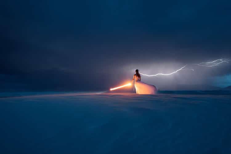 Lightning Bolt Light Painting Eric Pare Kim Henry