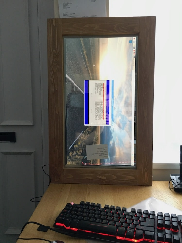 Man Creates Diy Magic Mirror That Displays Helpful Information