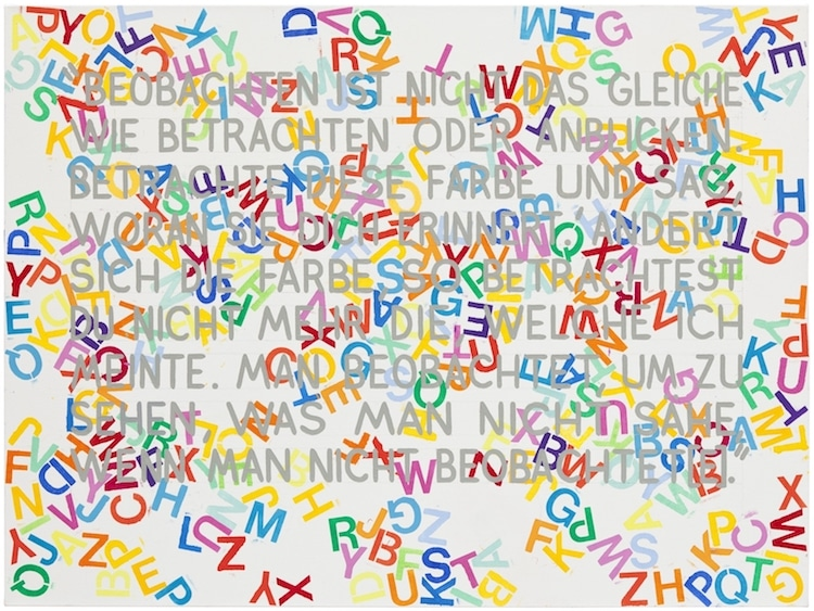 mel bochner text art