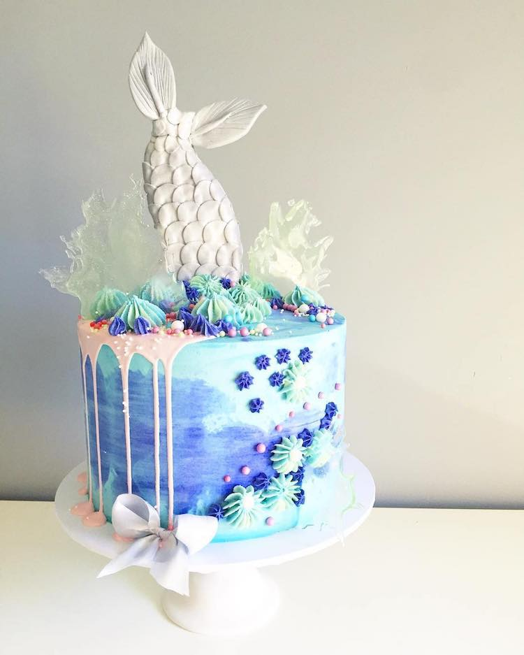 Phenomenal Enchanting Mermaid Cake Is A Tasty Riff On Under The Sea Funny Birthday Cards Online Barepcheapnameinfo