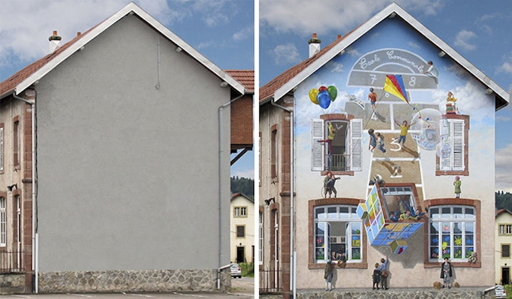Patrick Commecy Illusion Art Street Art