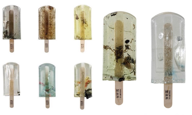 Polluted Water Popsicles pollution art