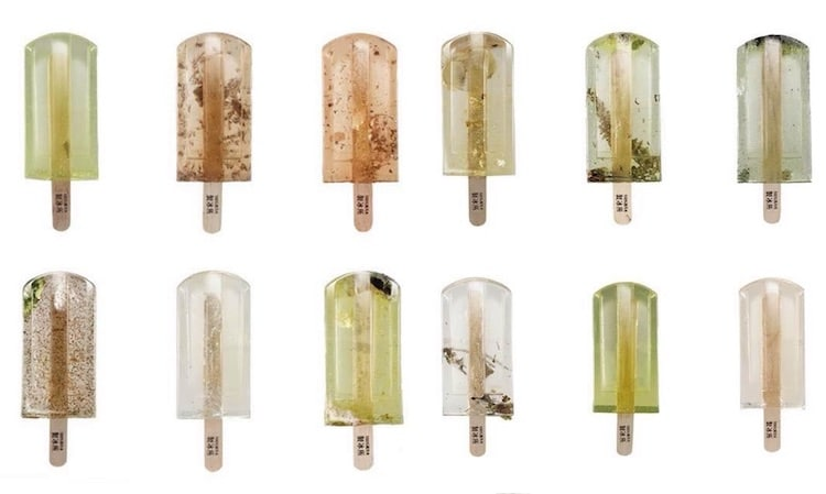 Polluted Water Popsicles environmental art