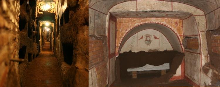 Rome Catacombs Fresco Restoration St. Domitilla Catacombs