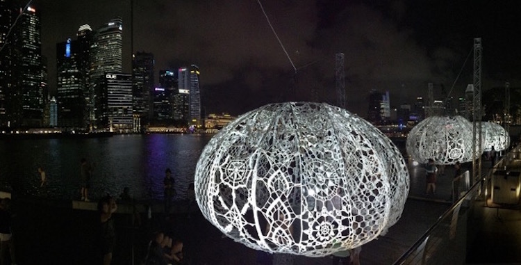Sea Urchin Interactive Art Installations Choi Shine Architects The Urchins