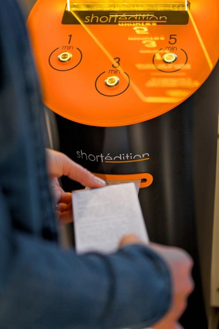 Short Édition Vending Machines Short Stories Short Story Dispenser