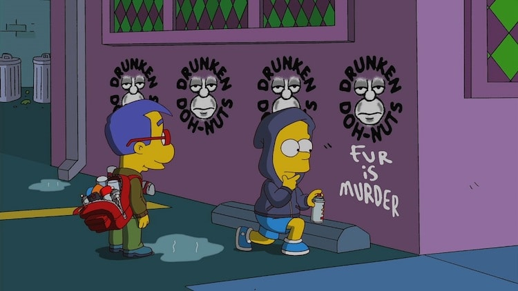 Episodio de los simpsons sobre graffiti