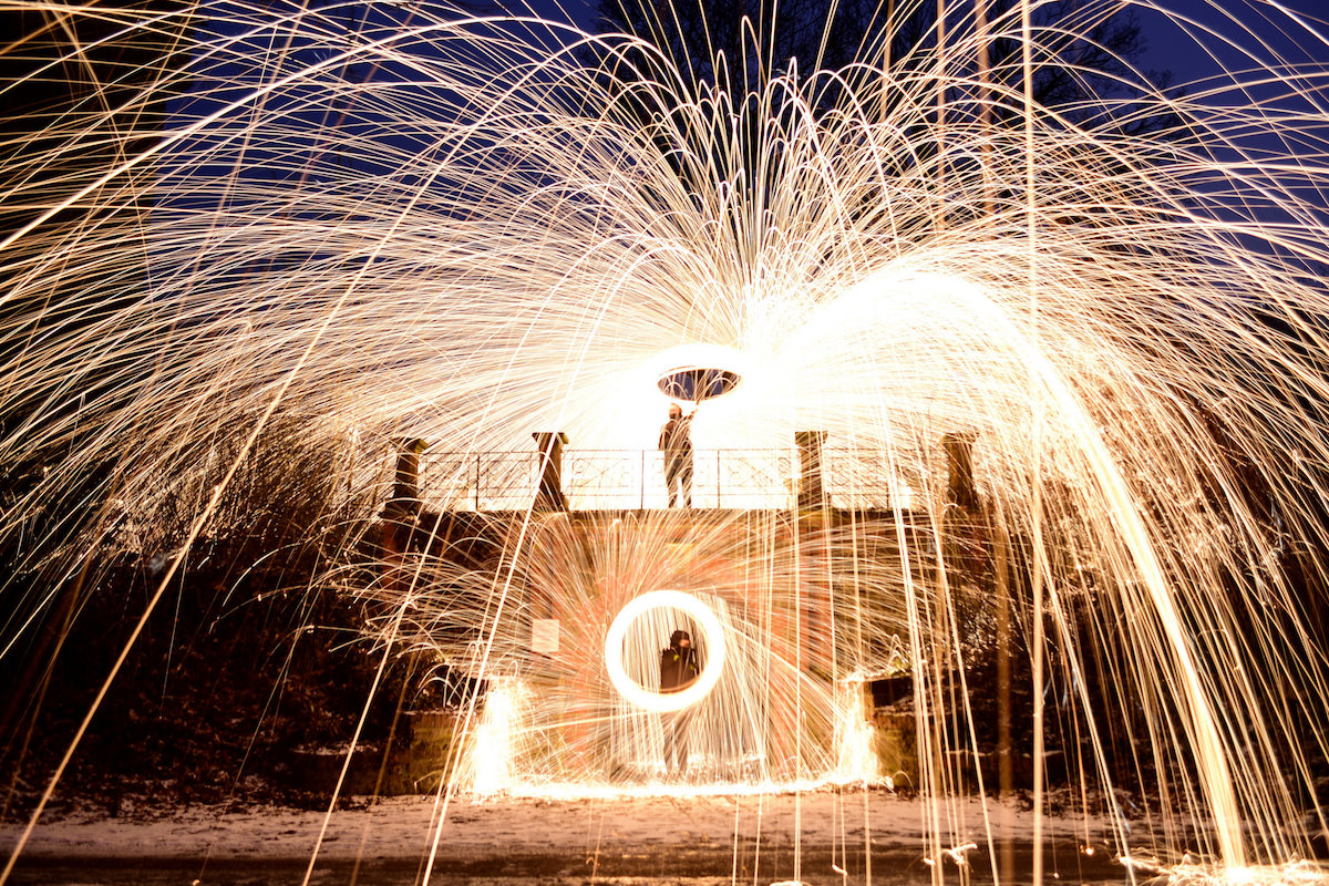 20+ Fiery Landscapes Ignited by Spectacular Steel Wool Photography