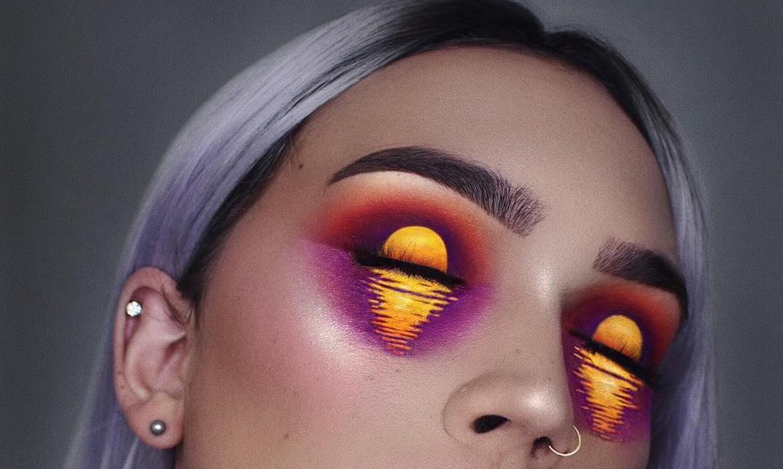 stunning eye makeup art transforms eyes into two shimmering