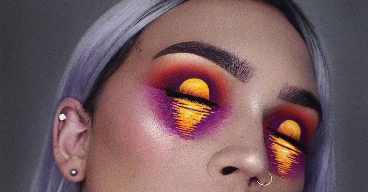 Stunning Eye Makeup Art Transforms Eyes Into Two Shimmering Lakes