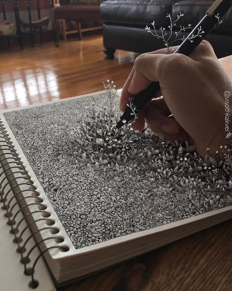 Visothkakvei Optical Illusion Drawings