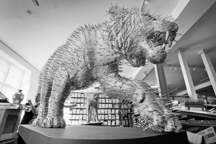 Wire Sculpture by David Mach