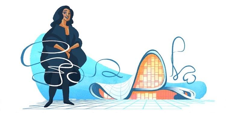 Zaha Hadid Google Doodle