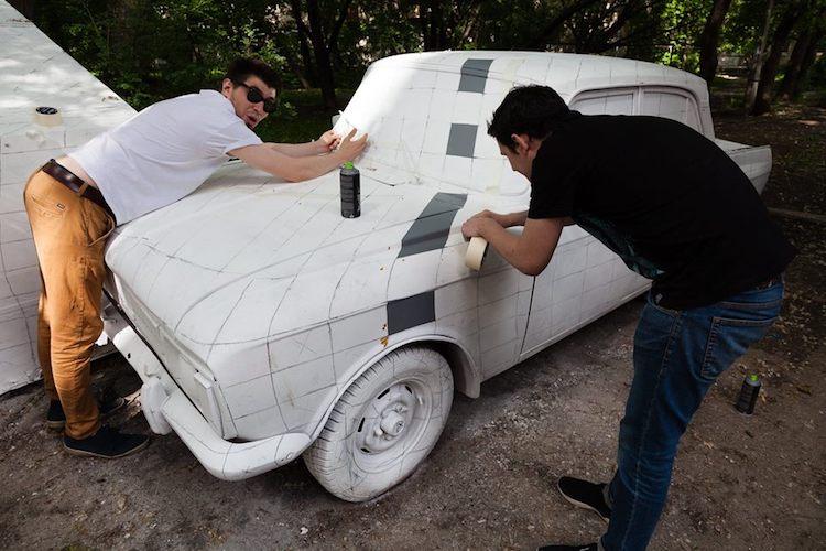 Amazing Street Art Illusion in Russia